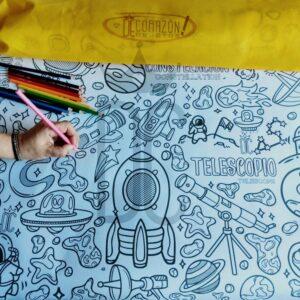 Kit láminas + lápices de colores