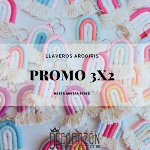 3×2  Llaveros arcoiris anti-estrés